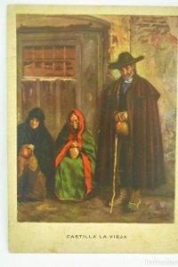 Castilla la vieja. Los desheredados. Las regiones Españolas. Nº 7 R. López Cabrera 15,7x11,1cm