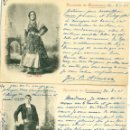 Postales: RECUERDO DE SALAMANCA. DOS POSTALES CIRCULADAS EN 1901 POR JOSE M. ARMERO.. Lote 165400006