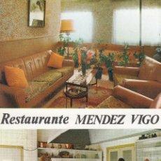 Postales: POSTAL PUBLICITARIA DEL RESTAURANTE MENDEZ VIGO - PUENTE DE DOMINGO FLORES - LEON. Lote 165518118