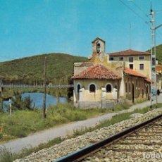 Postales: POSTAL FERROCARRIL ALAR DE REY PALENCIA. Lote 165600946
