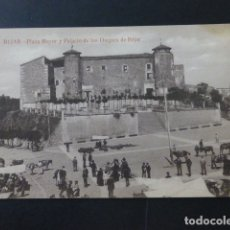 Postales: BEJAR SALAMANCA PLAZA MAYOR Y PALACIO DE LOS DUQUES DE BEJAR MERCADO. Lote 165757238