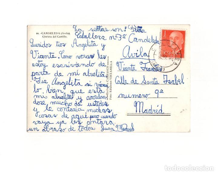 Postales: CANDELEDA.(ÁVILA).- GLORIETA DEL CASTILLO. - Foto 2 - 166458766