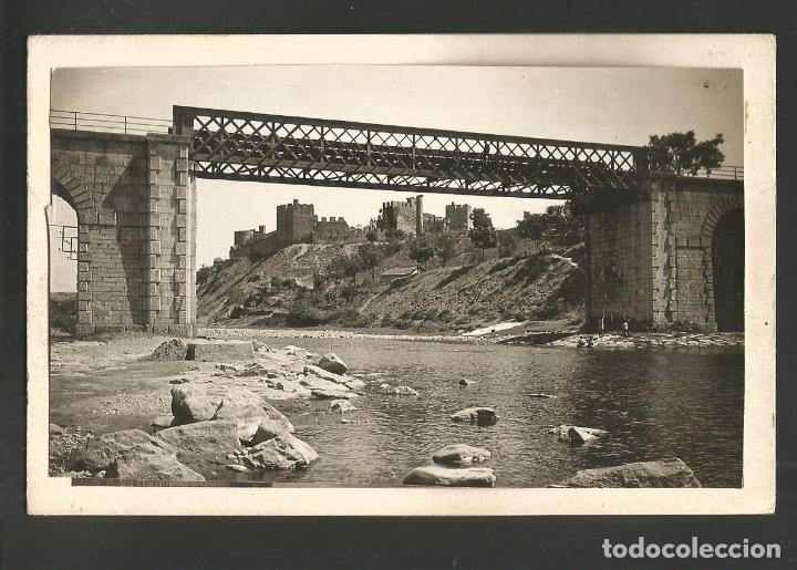 PONFERRADA-PUENTE FERROCARRIL-POSTAL FOTOGRAFICA PROTOTIPO ARCHIVO ROISIN-FOTO PEGADA-(60.186) (Postales - España - Castilla y León Antigua (hasta 1939))
