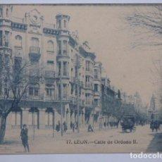 Postales: LEON , CALLE DE ORDOÑO II. Lote 167953128