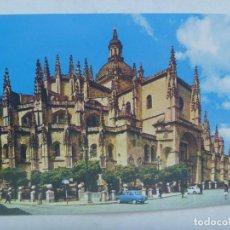 Postales: POSTAL DE SEGOVIA : CATEDRAL, VISTA GENERAL . AÑOS 60 . DE FOURNIER, VITORIA. Lote 168181876