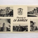 Postales: LA BAÑEZA (LEON) POSTAL. RECUERDO DE LA BAÑEZA. EDITA: DISTRIBUIDORES LEFLER-NISTAL (H.1950?). Lote 168649622