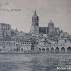 Postais: SALAMANCA , PUENTE Y CATEDRAL. Lote 168976844