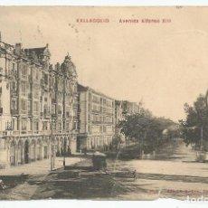 Postales: ANTIGUA POSTAL DE 1909 DE VALLADOLID- AVENIDA ALFONSO XIII-EDICION GUILLEN Nº 6-ESCRITA-VER DETALLE. Lote 169206296