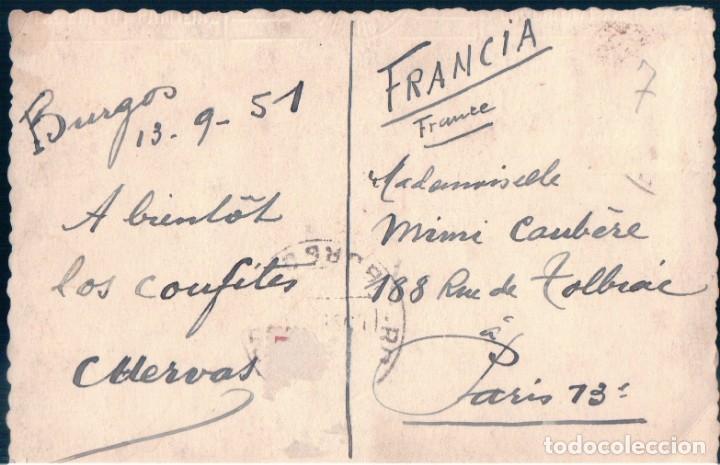 Postales: FOTOGRAFIA POSTAL BURGOS VISTA GENERAL CATEDRAL - CIRCULADA SIN SELLO - Foto 2 - 170169692