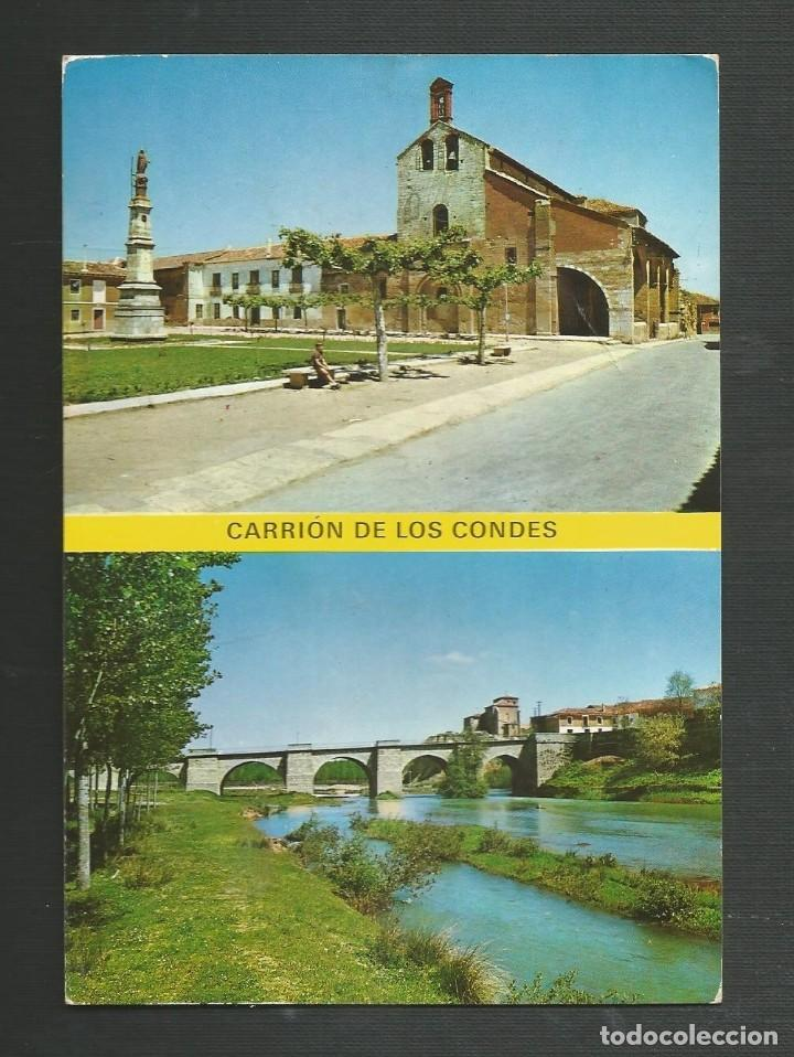 POSTAL SIN CIRCULAR - CARRION DE LOS CONDES 5 - PALENCIA - PLAZA DE SANTA MARIA - EDITA SICILIA (Postales - España - Castilla y León Moderna (desde 1940))