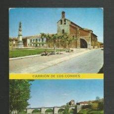 Postales: POSTAL SIN CIRCULAR - CARRION DE LOS CONDES 5 - PALENCIA - PLAZA DE SANTA MARIA - EDITA SICILIA. Lote 170936930