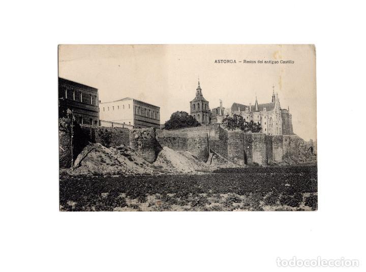 ASTORGA.(LEÓN).- RESTOS DEL ANTIGUO CASTILLO. (Postales - España - Castilla y León Antigua (hasta 1939))