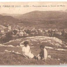 Postales: PUEBLA DE LILLO (LEÓN) PANORAMA DESDE LA SIERRA DEL MOLIN.. Lote 171447158