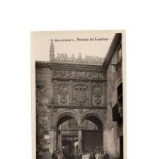Postales: SALAMANCA.- PORTADA DEL INSTITUTO. POSTAL FOTOGRÁFICA.. Lote 171491134