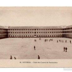 Postales: ASTORGA.- PATIO DEL CUARTEL SANTOCILDES. Lote 171913738