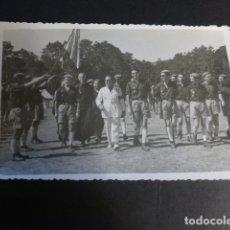 Cartoline: COVALEDA SORIA JULIO 1954 CAMPAMENTO FRENTE DE JUVENTUDES AUTORIDADES. Lote 172059325