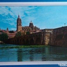 Postales: POSTAL 65 SALAMANCA PUENTE ROMANO Y CATEDRAL ED ARRIBAS. Lote 172126730