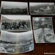 Postales: 5 FOTOGRAFIAS DE LAS OBRAS EN MAYO DE 1941, GUADARRAMA (MADRID) - SAN RAFAEL (SEGOVIA), PASO DEL CAB. Lote 173113829
