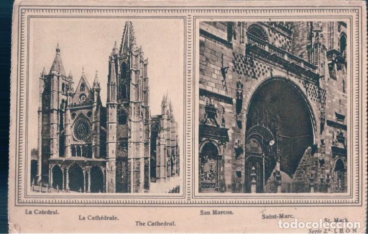 Postales: CARTA POSTAL LEON - SAN ISIDORO - LA CATEDRAL - SAN MARCOS - PATRONATO TURISMO - LEON - 22 X 16 CM - Foto 2 - 173388275