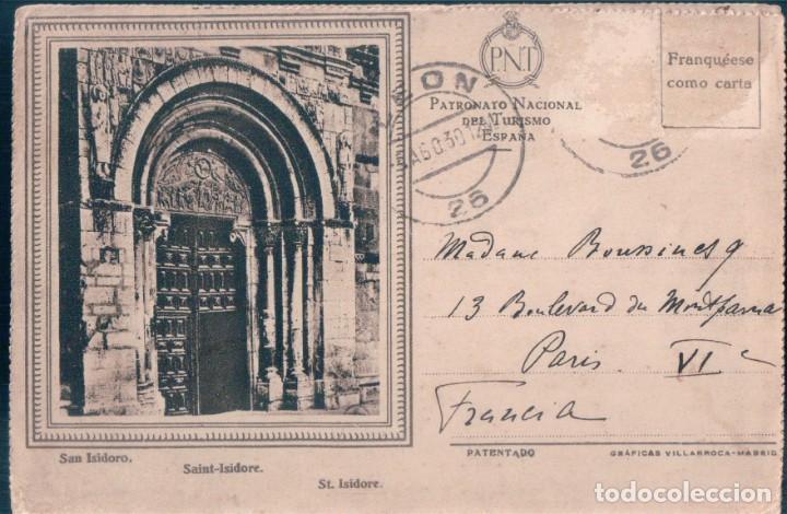 CARTA POSTAL LEON - SAN ISIDORO - LA CATEDRAL - SAN MARCOS - PATRONATO TURISMO - LEON - 22 X 16 CM (Postales - España - Castilla y León Antigua (hasta 1939))