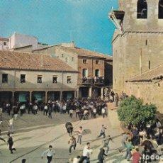 Postales: BENAVENTE ZAMORA FIESTA DEL TORO ENMAROMADO ED. ZUAZUA OVIEDO Nº 163 AÑOS 60. Lote 173726173
