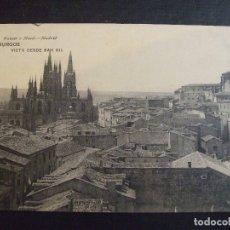 Postales: POSTAL ANTIGUA - BURGOS VISTA DESDE SAN GIL 1347 - HAUSER MENET S/C. Lote 173870228