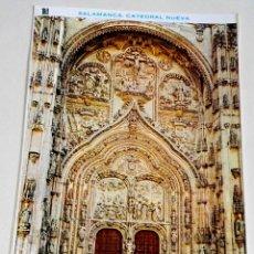 Postales: POSTAL - ESPAÑA, SALAMANCA, CATEDRAL NUEVA, PUERTA PRINCIPAL. Lote 174551537