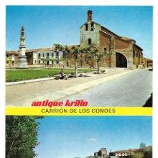 Postales: CARRION DE LOS CONDES Nº 5 PLAZA SANTA MARIA Y PUENTE .- EDICIONES SICILIA . Lote 175250122
