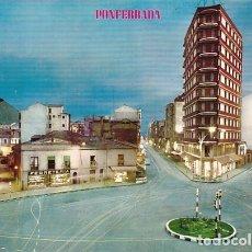 Postales: PONFERRADA LEON PLAZA JULIO LAZURTEGUI NOCTURNO ED. PARIS Nº 408 AÑO 1967. Lote 175349424