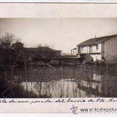 Postales: PALENCIA. POSTAL FOTOGRÁFICA. PALENCIA INUNDACIÓN DEL RIO CARRIÓN 1909. VISTA POSADA BARRIO STA ANA.. Lote 175740104