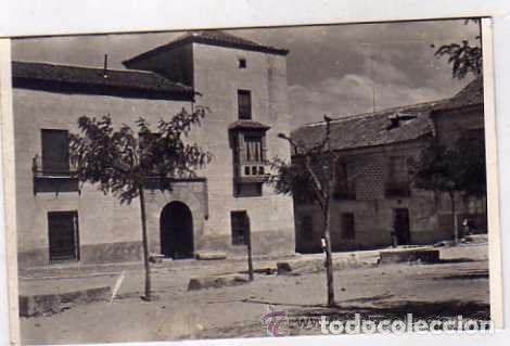 SANTA MARÍA DE NIEVA. SEGOVIA. DETALLE DE UNA CASA SEÑORIAL. AÑO 1941 FOTO GOMOZA ZAMORA (Postales - España - Castilla y León Antigua (hasta 1939))