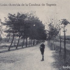 Postales: LEON - AVENIDA DE LA CONDESA DE SAGASTA. Lote 176516255