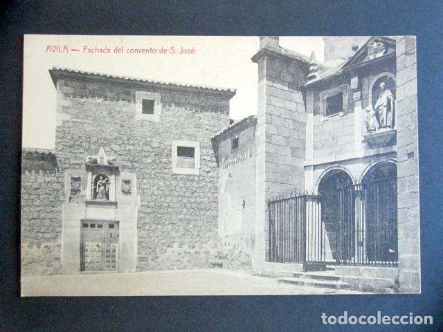 POSTAL ÁVILA. FACHADA DEL CONVENTO DE S. JOSÉ. EDICIÓN A. MEDRANO. (Postales - España - Castilla y León Antigua (hasta 1939))