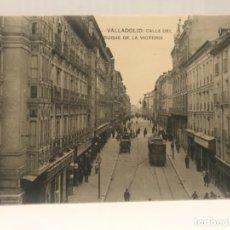 Postales: VALLADOLID CALLE DEL DUQUE DE LA VICTORIA 1919 L.V ANTIGUA POSTAL TRANVIA H M. Lote 176873737