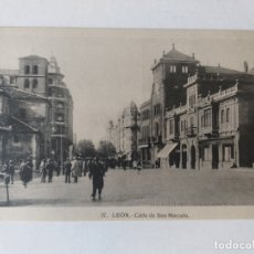Postales: POSTAL DE LEÓN, CALLE DE SAN MARCELO. Lote 176925898