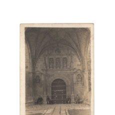 Postales: VILLACARYO .(BURGOS).- PÓRTICO DE LA IGLESIA DE BISJUECES. POSTAL FOTOGRÁFICA.. Lote 177961624
