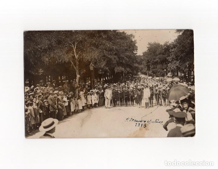 BURGOS.- GRUPO DE BOY SCOUT. POSTAL FOTOGRÁFICA. FOTO A. VADILLO. (Postales - España - Castilla y León Antigua (hasta 1939))