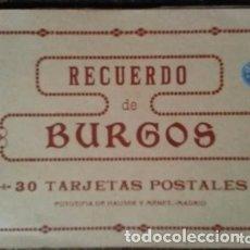 Postales: LIBRILLO DE TREINTA TARJETAS POSTALES RECUERDO DE BURGOS. Lote 178204153
