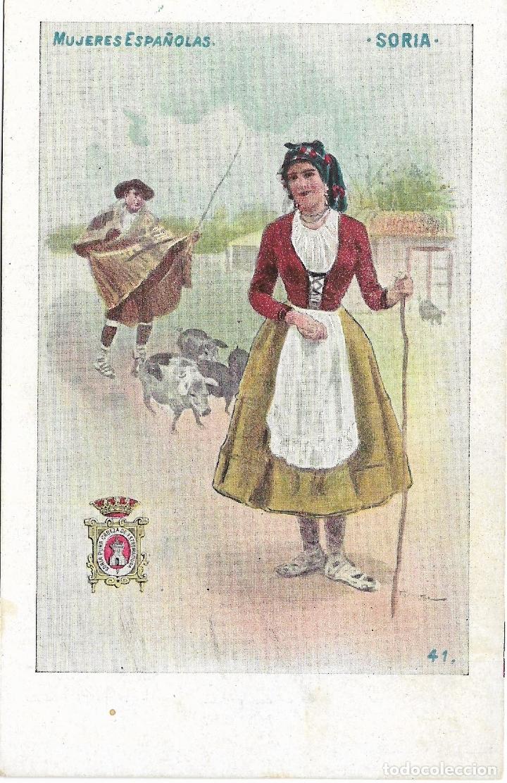 SORIA, MUJERES ESPAÑOLAS. ED. CALLEJA Nº 41 - SIN CIRCULAR - SIN DIVIDIR (Postales - España - Castilla y León Antigua (hasta 1939))