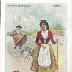 Postales: SORIA, MUJERES ESPAÑOLAS. ED. CALLEJA Nº 41 - SIN CIRCULAR - SIN DIVIDIR. Lote 178218320