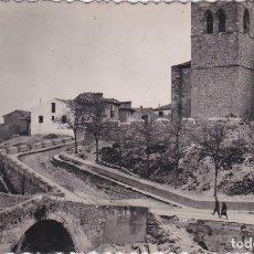 Postales: ARANDA DE DUERO (BURGOS) - PARROQUIA DE SAN JUAN Y PUENTE ROMANO. Lote 178385818