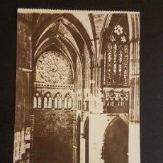 Postales: LEON INTERIOR DE LA CATEDRAL DETALLE DEL CRUCERO. Lote 178641320