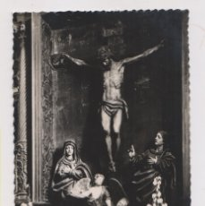 Postales: POSTAL FOTOGRÁFICA. 12. CUÉLLAR, SEGOVIA. MONTE CALVARIO (GRUPO ESCULTÓRICO). Lote 179551128