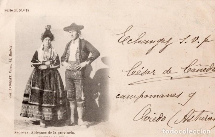 SEGOVIA. ALDEANOS. SERIE B, Nº18 LAURENT (Postales - España - Castilla y León Antigua (hasta 1939))