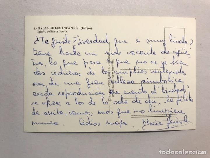 Postales: SALAS DE LOS INFANTES (Burgos) Postal No.4, Iglesia de Santa María. Edita: Vistabella (h.1950?) - Foto 2 - 180106101