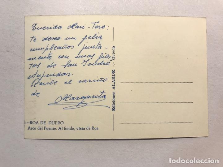 Postales: ROA DE DUERO (Burgos) Postal No.8, Arco del Puente. Al fondo, Vista de Roa. Edita: Ed.Alarde - Foto 2 - 180106306