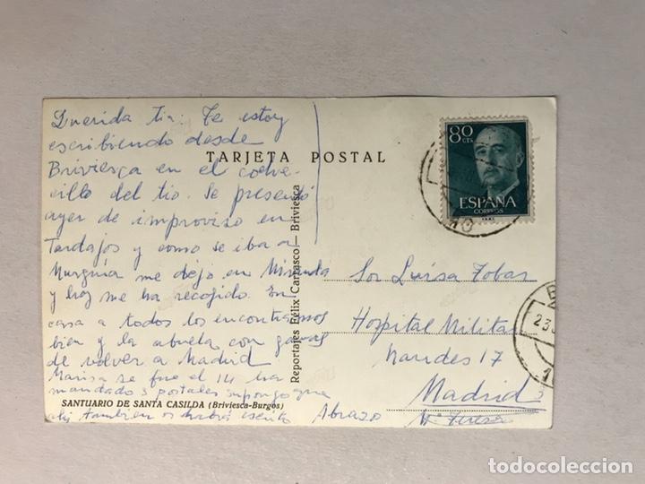 Postales: SANTUARIO DE SANTA CASILDA. BRIVIESCA (Burgos) Postal Reportajes Félix Carrasco (h.1960?) - Foto 2 - 180108521