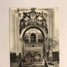 Postales: BURGOS. POSTAL NO.72, SAN PEDRO CARDEÑA. TUMBAS DEL CID CAMPEADOR Y DA. JIMENA, SU MUJER.. Lote 180109158