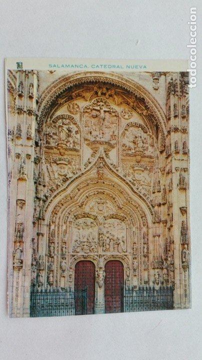 POSTAL DE SALAMANCA : PUERTA PRINCIPAL DE LA CATEDRAL NUEVA (Postales - España - Castilla y León Moderna (desde 1940))