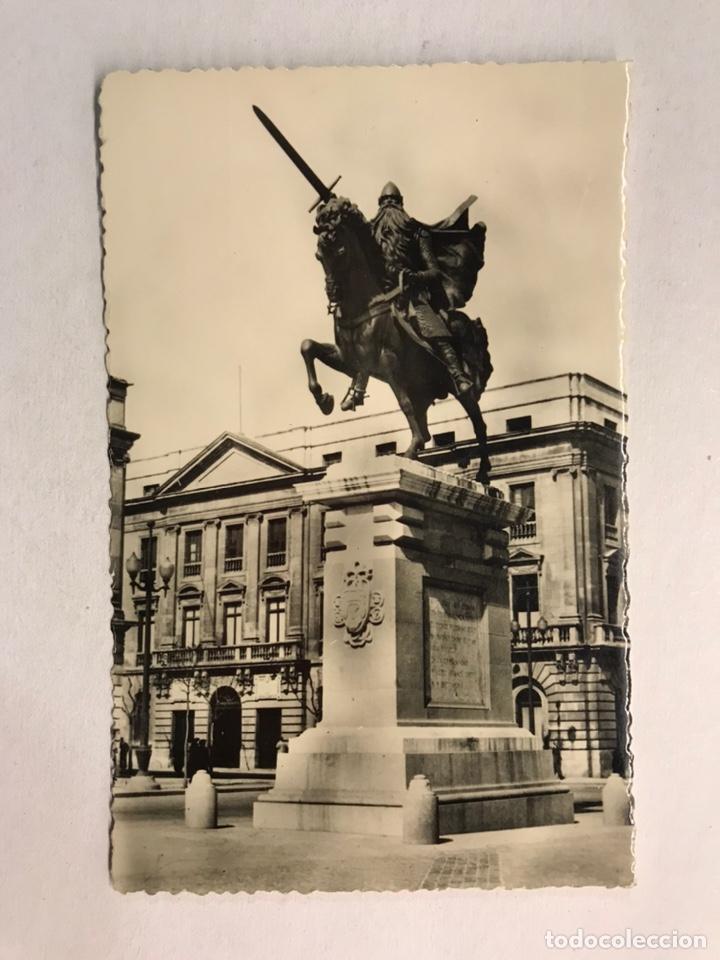 BURGOS. POSTAL NO. 71, MONUMENTO AL CID CAMPEADOR. EDITA: HELIOTOPIA ARTÍSTICA ESPAÑOLA (Postales - España - Castilla y León Moderna (desde 1940))